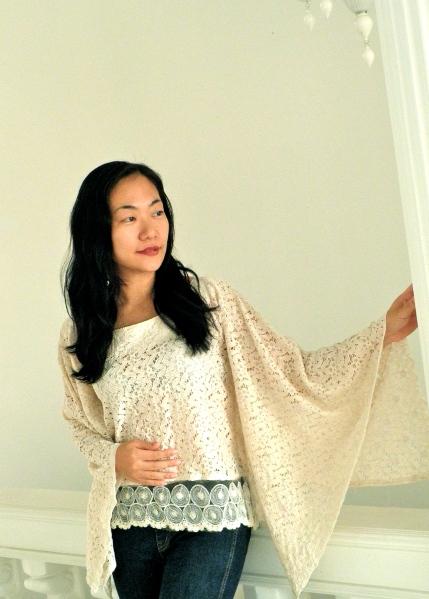 Snowflakes Kaftan blouse