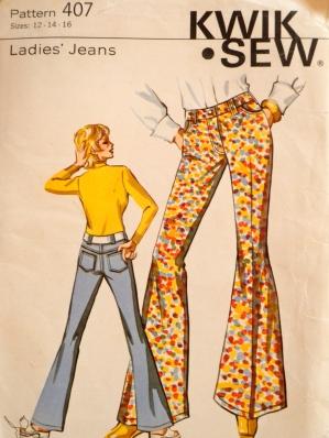 Kwik Sew 407 1970s Jeans