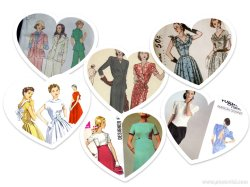 vintage pattern collage