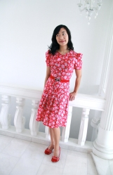Spring floral mother dress