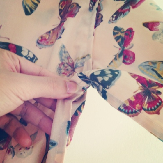 Butterflies shirt inside