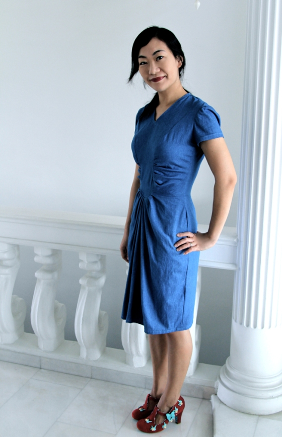 denim dress side