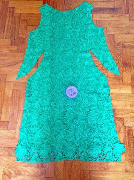 Lace dress progress