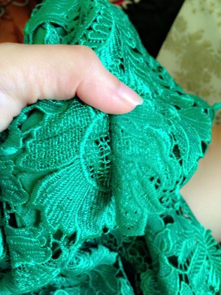 Lace dress unpicking
