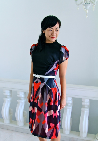 "The ""Asymmetrical Geometric"" dress"