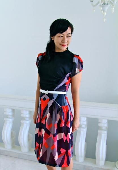 "The ""Asymmetrical Geometric"" dress"